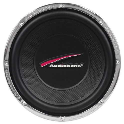 "Audiobahn Awc10T 10"" 800 Watts Peak/400 Watts Rms 4-Ohm Dual Voice Coil Subwoofer With A Chrome Finish"