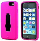 myLife Rosey Pink {Modern with Kickstand Design} 3 Layer FLEX Hybrid Case for the NEW iPhone 6 (6G) 6th Generation Phone by Apple, 4.7 Screen Version (Two Piece Internal Fitted Hard Protector Snap Shell + Full Body External Silicone EASY-Grip Bumper Gel Protection)