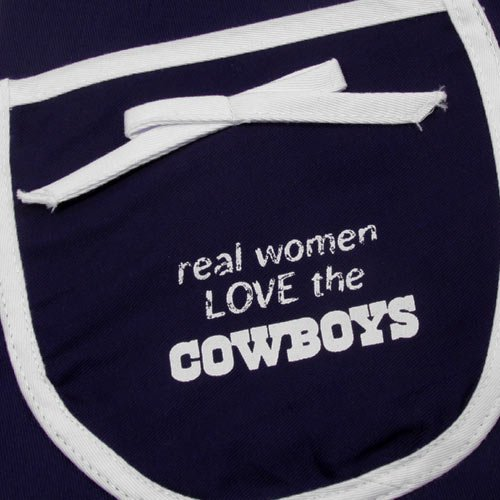 Pro Specialties Group PSG-Z0220344 Dallas Cowboys NFL Hostess Apron