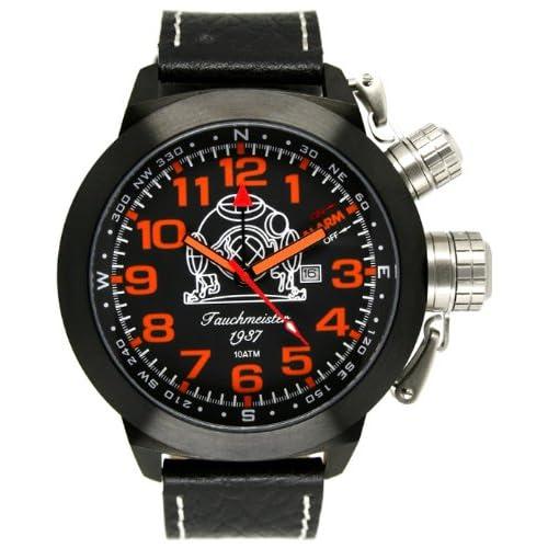 [トーチマイスター1937]Tauchmeister1937 腕時計 ドイツ製 2戦ドイツ海軍U-BOOT潜艦軍用復刻 アラームT0188(並行輸入品)