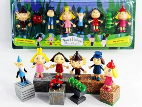 cartoon-ben-and-hollys-little-kingdom-8pcs-figures-3-pendant-new