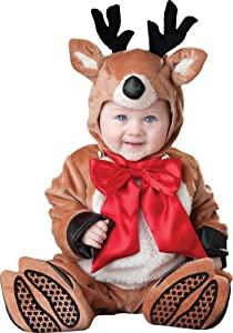 InCharacter Costumes, LLC Reindeer Rascal Jumpsuit, Brown/Red/White, Small