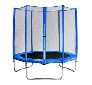 SixBros. Sixjump 1,85 M Trampoline de jardin bleu   Filet de sécurité - CST185/L1564