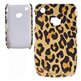 Xtra-FUnky Exclusive Leopard Print Textured Case Cover For BlackBerry CURVE 8520 & 9300 (BLACKBERRY CURVE 8520 - 9300, Yellow - Brown - Black)by Xtra-Funky