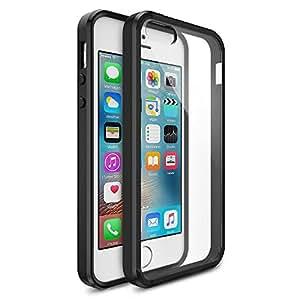 MTT® Shock Absorption Transparent Case for iPhone 5SE 5S 5 (Opaque Black)