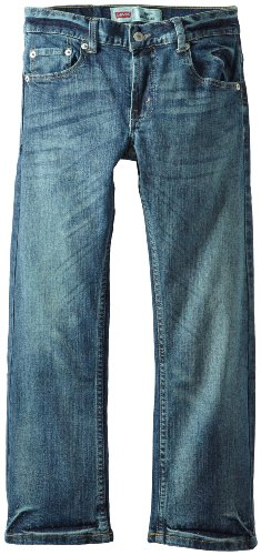Levi's Big Boys' 505 Regular Faded Fit, Clouded Tones, 8/Regular
