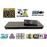 PANASONIC Lecteur Blu Ray BDT230 2D/3D Wi-Fi Blu-Ray Disc Player MultiZone Region Code Free DVD 012345678 PAL/NTSC Blu Ray Zone A/B/C. 100~240V 50/60Hz comes with EU & UK Mains plugs (2m Gold Plated 1.4 HDMi Lead)