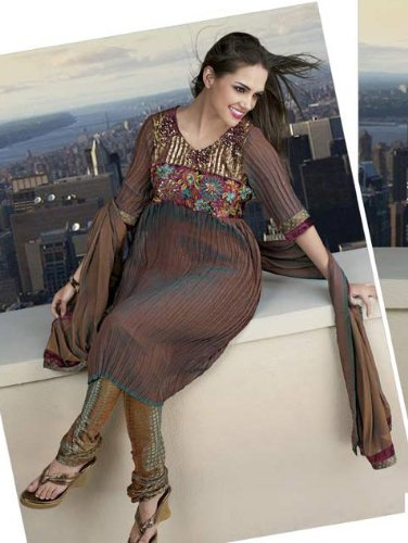 Material With Churidar Unsched Dress Material And Dupatta Overview