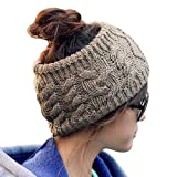 Women Girl Cotton Cable Headband Hairband Head Wrap Winter Warm Hat Grey