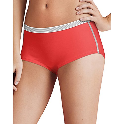 Hanes Women's Sport Comfort X-Temp Boyshort Panties with Comfort Flex Waistband