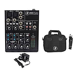 Package: Mackie 402VLZ4 4-channel Compact Analog Low-Noise Mixer with 2 Onyx Mic Preamps + Mackie BAG FOR 402-VLZ3 Travel Mixer Bag