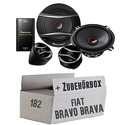 FIAT BRAVO + BRAVA 182avant-Pioneer TS a133ci Système d'Enceintes 13cm 2voies-Kit de montage