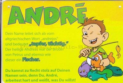 Postkarten - Plastikschild Andre