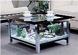 期間限定セール アクアテーブル 強化ガラス水槽付きローテーブル アクアリウム・ジオラマ・コレクションテーブル向け