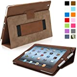 Snugg™ iPad 2 Case - Executive Smart Cover With Card Slots & Lifetime Guarantee (Distressed Brown Leather) for Apple iPad 2