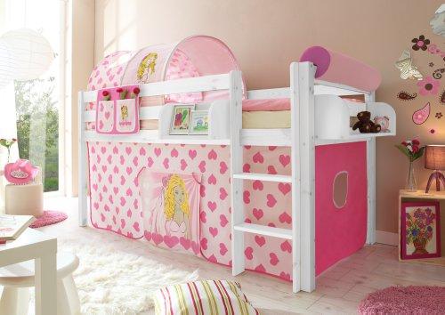 TICAA malte en bois de pin blanc/motifs Cindy (Pink)