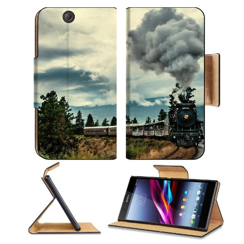 Steam Clouds Trains Bridges Scenery Sony Xperia Z Ultra Flip Case Stand Magnetic Cover Open Ports Customized Made To Order Support Ready Premium Deluxe Pu Leather 7 1/4 Inch (185Mm) X 3 15/16 Inch (100Mm) X 9/16 Inch (14Mm) Msd Sony Xperia Z Ultra Cover P front-599662