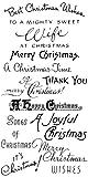 クリスマスの挨拶 - クリスマスタイム ~ クリアスタンプ (9x18cm) // Christmas Greetings - Christmas Time ~ Clear stamps pack (9x18cm) FLONZ