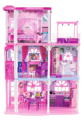 Barbie Pink 3-Story Dream Townhouse front-12318