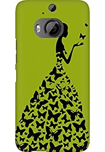 AMEZ designer printed 3d premium high quality back case cover for HTC One M9 Plus (pista green princess)