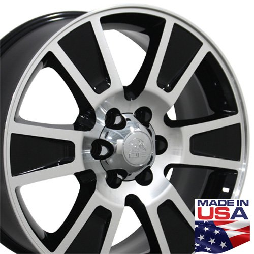 20-inch Fits Ford - F-150 Aftermarket Wheels - Black Machined Face 20x8.5 - S...
