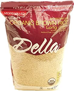 Amazon.com : Della Organic Long Grain Brown Rice-12 lbs
