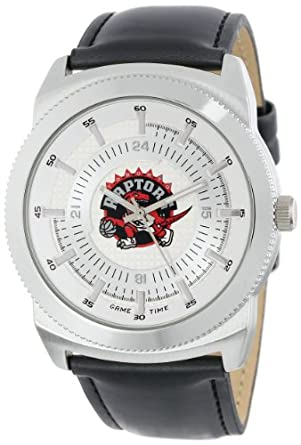 Game Time Mens NBA-VIN-TOR Vintage NBA Series Toronto Raptors 3-Hand Analog Watch by Game Time