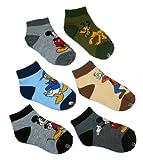 Disney Mickey Mouse & Friends Toddler Boy's 1/4 Crew Socks - 6 Pair