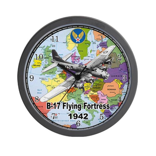 CafePress B-17 Flying Fortress WW2 Wall Clock