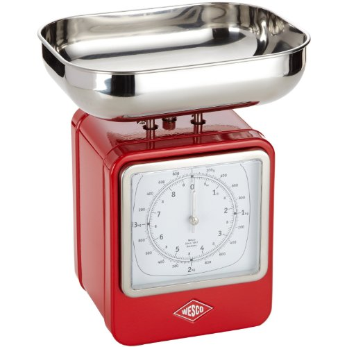 Wesco 322204-02 Küchenwaage rot