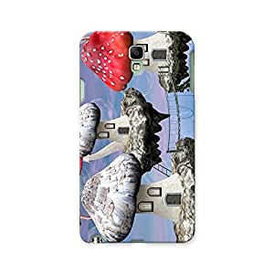 ArtzFolio Mushrooms Magic Town : Samsung Galaxy Note 3 Neo Matte Polycarbonate ORIGINAL BRANDED Mobile Cell Phone Protective BACK CASE COVER Protector : BEST DESIGNER Hard Shockproof Scratch-Proof Accessories