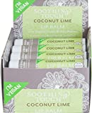 Soothing Touch Coconut Lime Vegan Lip Balm , .25 oz (85% Organic) (Case of 12)