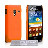 Samsung Galaxy Ace Plus S7500 Case Orange Hard Back Hybrid Back Case Cover With Screen Protector Film And Grey Micro-Fibre Polishing Clothby Yousave Accessories
