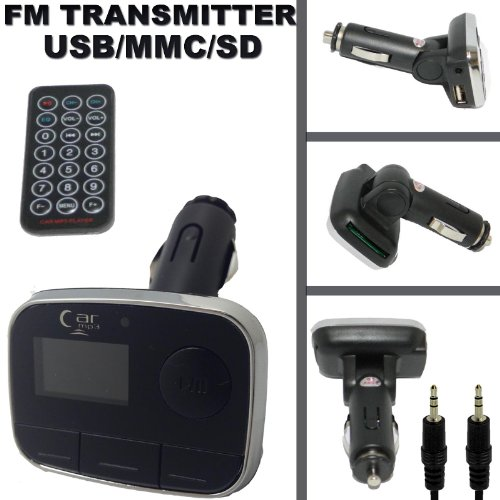 CAR AUTO FM TRANSMITTER RADIO MP3 WIRELESS MUSIC MUSIK WITH MIT REMOTE FOR IPOD TOUCH 4G 4TH GEN SD MMC USB 5G