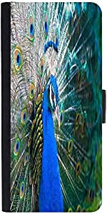 Snoogg Peacock Side Viewdesigner Protective Flip Case Cover For Apple Iphone 5C