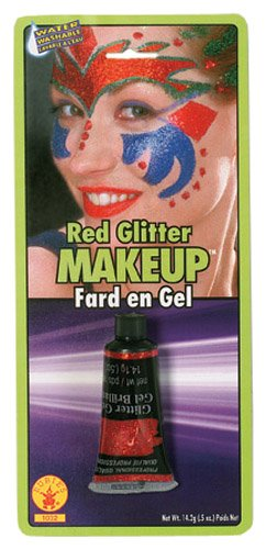 Rubies Novelty Red Glitter Gel Makeup