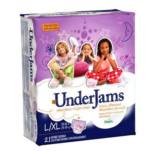 Pampers UnderJams Night Wear For Girls, Size L/XL 21 Count (Pack of 3)