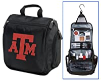 Texas A&M Cosmetic Bag or Mens Shaving Kit - Travel Bag Aggies Logo Makeup Toil