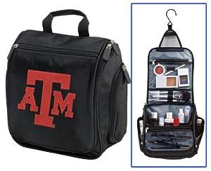 Texas A&M Cosmetic Bag or Mens Shaving Kit - Travel Bag Aggies Logo Makeup Toil