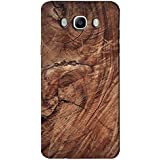 AMAN Brown Colour Wood 3D Back Cover For Samsung Galaxy J7 2016