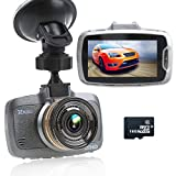 'Ragu 2.7LCD 170° 1080P HD coche DVR cámara grabadora de vídeo con 16GB TF tarjeta, salpicadero Conduce Videocámara, visión nocturna, automática Loop de grabación de ciclo, detección de movimiento, salir de carril, supervisión al estacionas