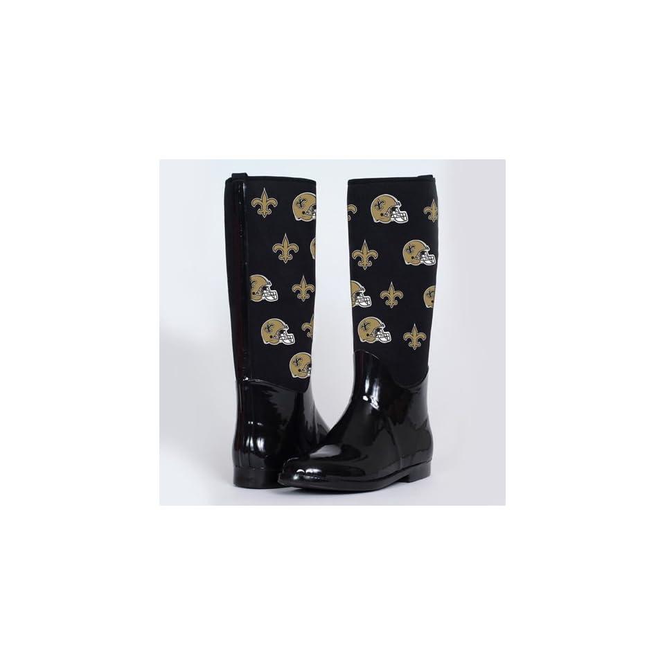 e003edf9 NFL Cuce Shoes New Orleans Saints Womens Enthusiast II Rain Boots ...