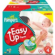 Post image for Pampers Angebote bei Amazon (Easy-Up 120 Stück für 16€)