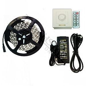 Amazon.com: Waterproof Flexible LED Light Strip Kit - 16.4ft 600LEDs 3528 SMD LED Strip Lights ...