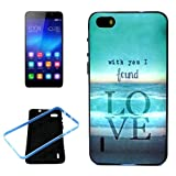 Crazy4Gadget With You I Found Love Pattern 2 In 1 Synthetic Rubber & Plastic Bumper Frame Combination Case For...
