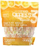 Coromega Omega3 Squeeze Packets, Orange, 120-Count