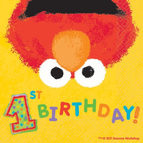 Elmo's 1st - Beverage Napkins Party Accessory - 1