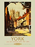TRAVEL TOURISM YORK ENGLAND UK CATHEDRAL MINSTER SHAMBLES RAIL TRAIN 30X40 CMS FINE ART PRINT ART POSTER BB10032