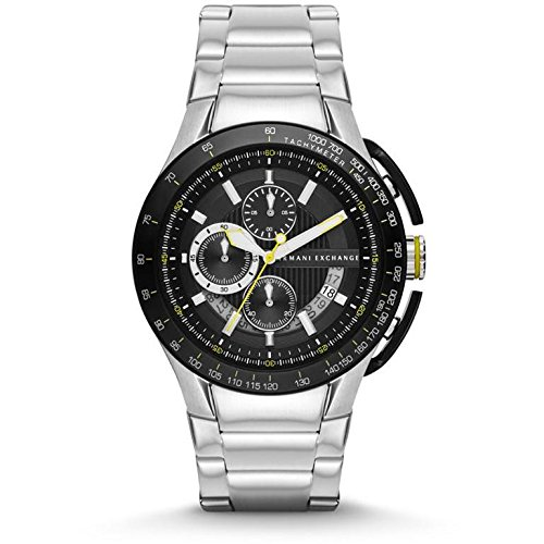 Armani Exchange AX1408 45mm Silver Steel Bracelet & Case Mineral Men's Watch