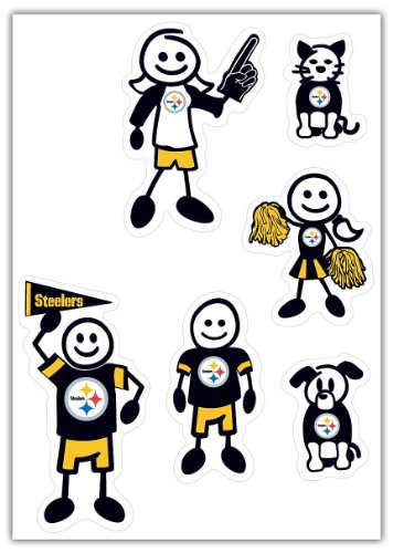 NFL Pittsburgh Steelers Small Family Decal Set (Steelers Family Car Decals compare prices)